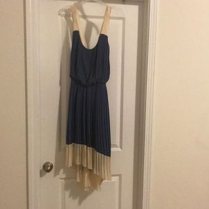 Cute High Low Pleated Dress